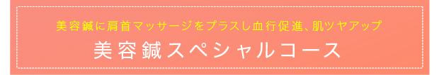 美容鍼に肩首マッサージをプラスし血行促進、肌ツヤアップ 美容鍼スペシャルコース 6,156円